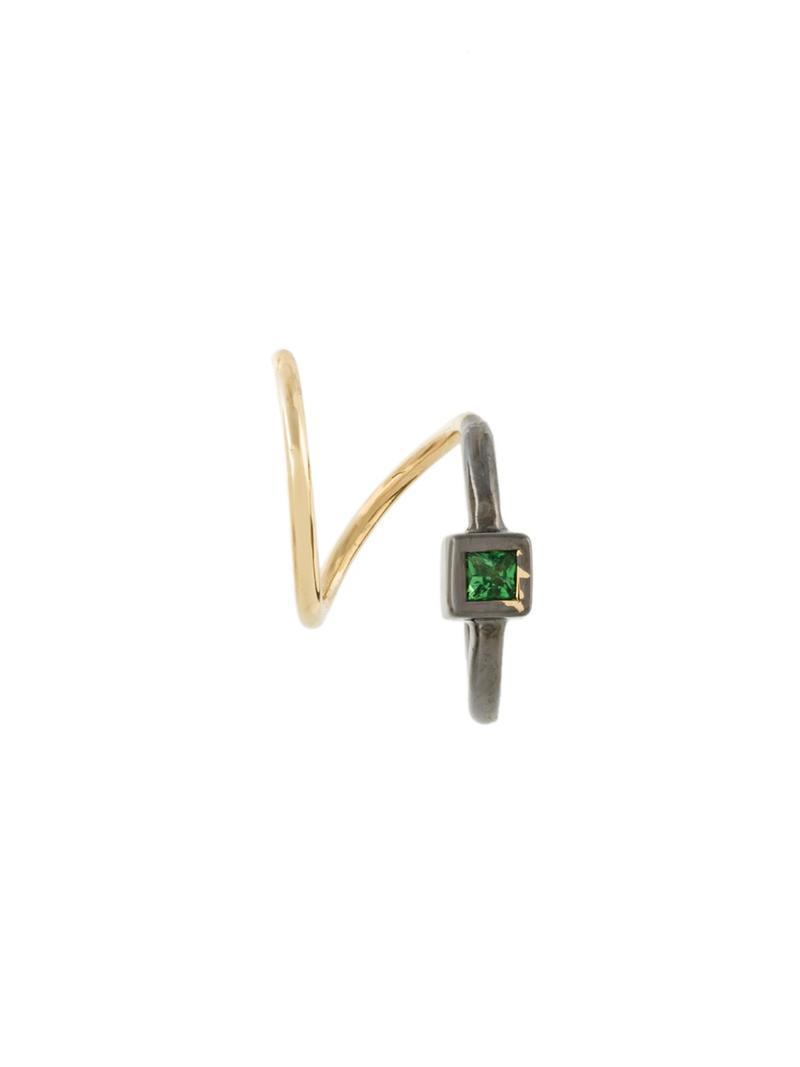 Maria Black Ava Vert twirl tsavorite earring - Metallic c98qDKZ