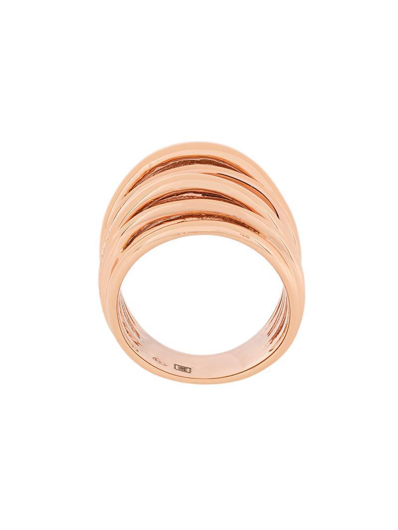 Federica Tosi layered ring - Metallic qvgI8W