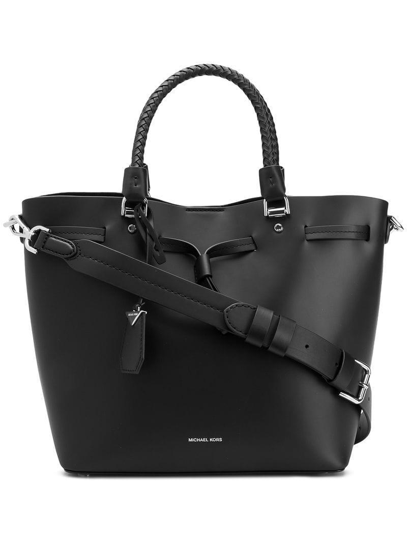 3212892737b6 Lyst - Michael Michael Kors Blakely Tote Bag in Black