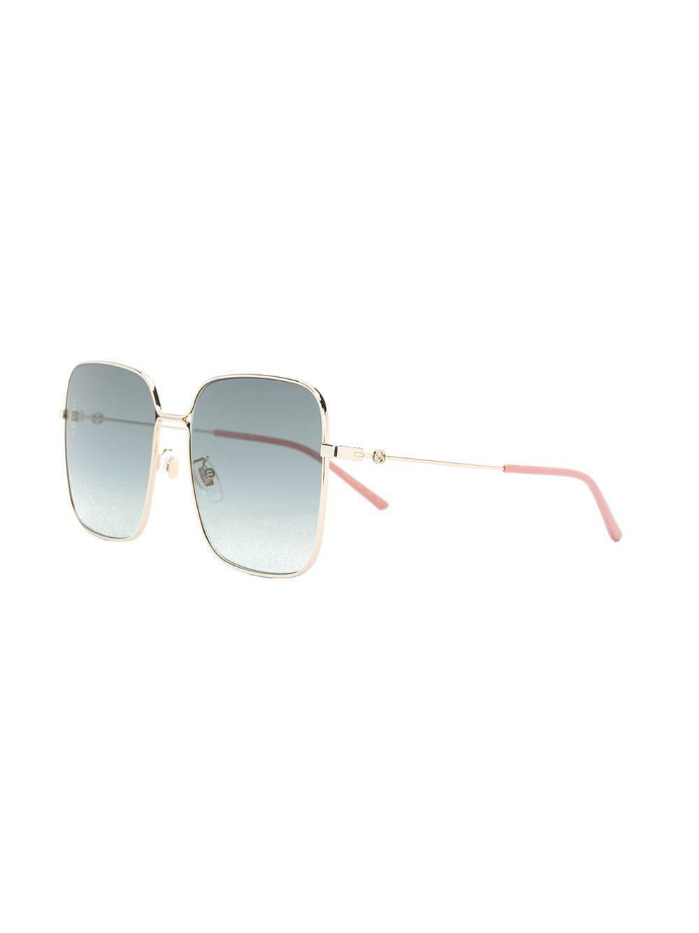 67afca1e437 Gucci - Metallic Oversized Square Sunglasses - Lyst. View fullscreen