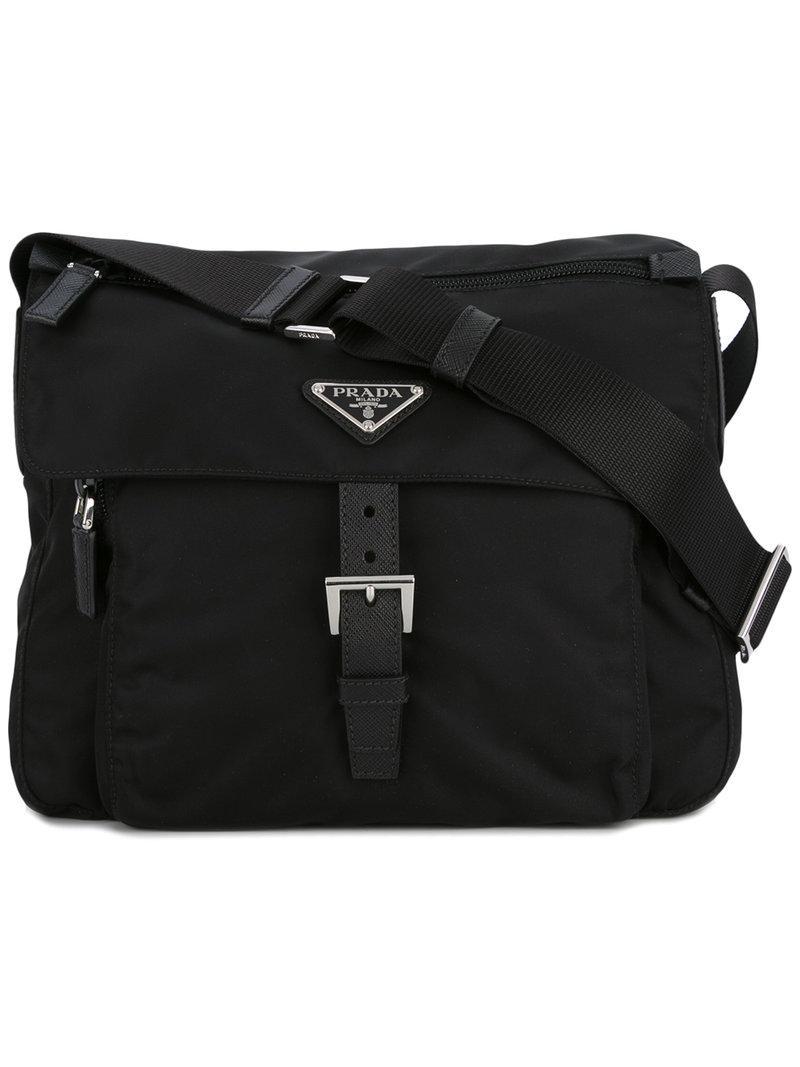 977ed6f1ca Prada - Logo Plaque Cross Body Bag - Women - Nylon - One Size in ...