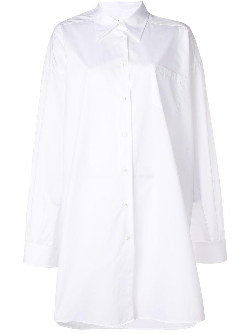 Sale Big Discount oversized long sleeve shirt - White Maison Martin Margiela Outlet Original Discount Best Seller Shop Offer For Sale Quality FmBd6Xo