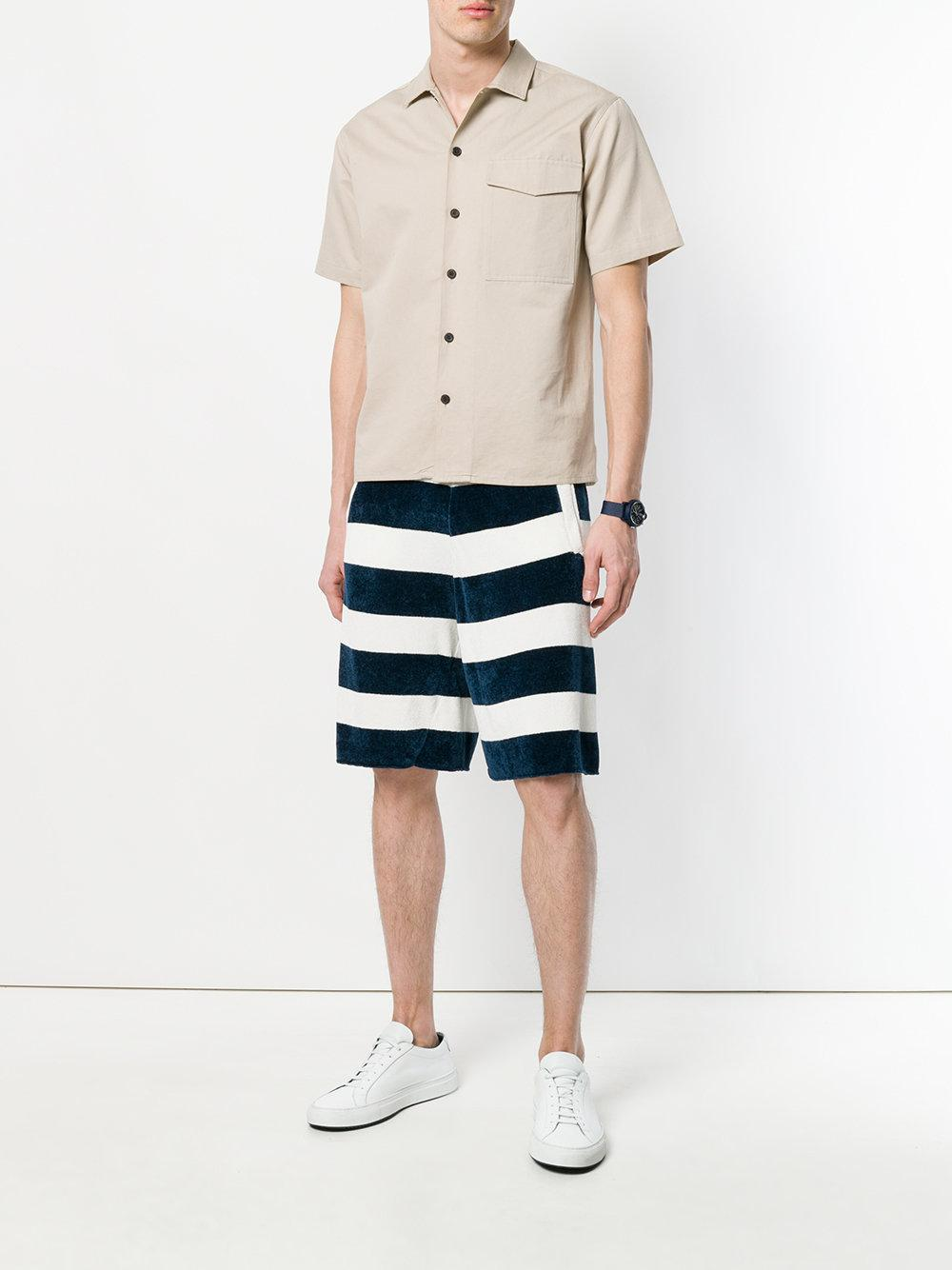 2b67c551443 Lyst - Laneus Striped Track Shorts in Blue for Men