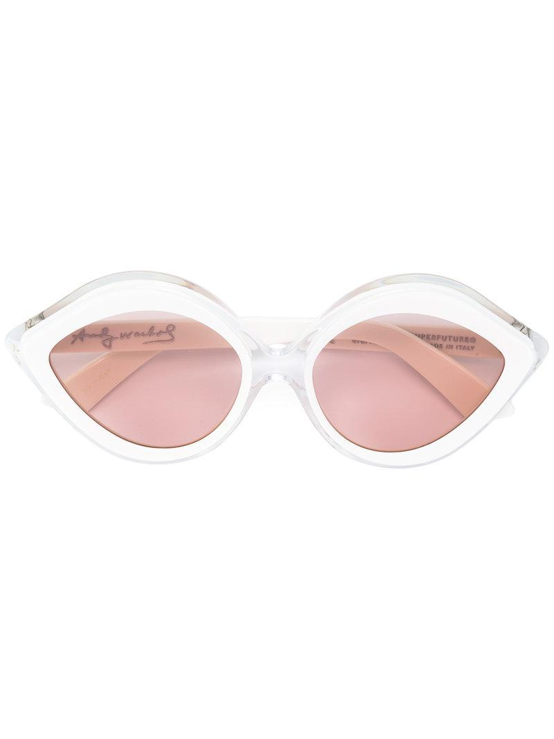 Clearance Factory Outlet Factory Outlet Cheap Price cateye sunglasses - White Retro Superfuture Discount Top Quality 2018 Unisex Cheap Online OYDVu8v