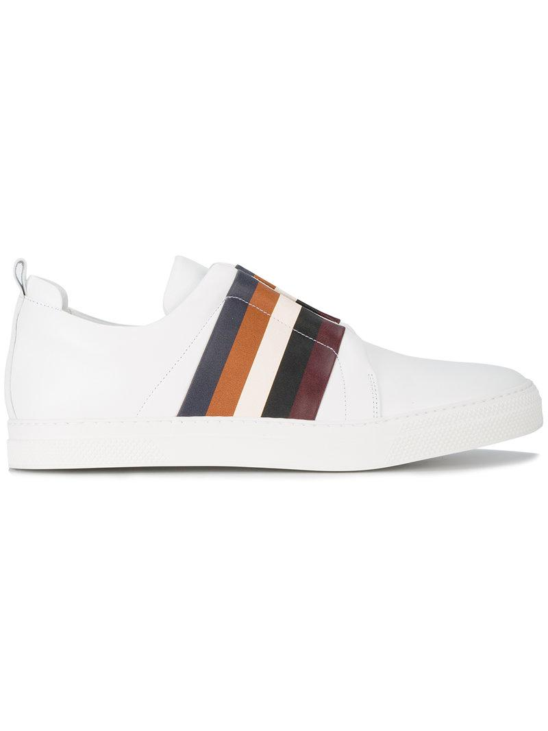 Pierre HardySlider multi stripe sneakers