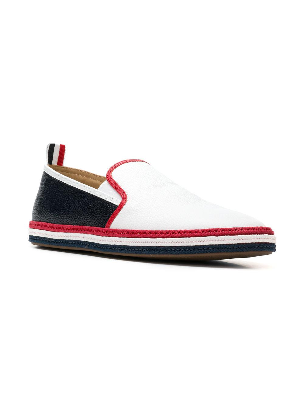 6298995243f Lyst - Thom Browne Striped Rope Leather Espadrille for Men