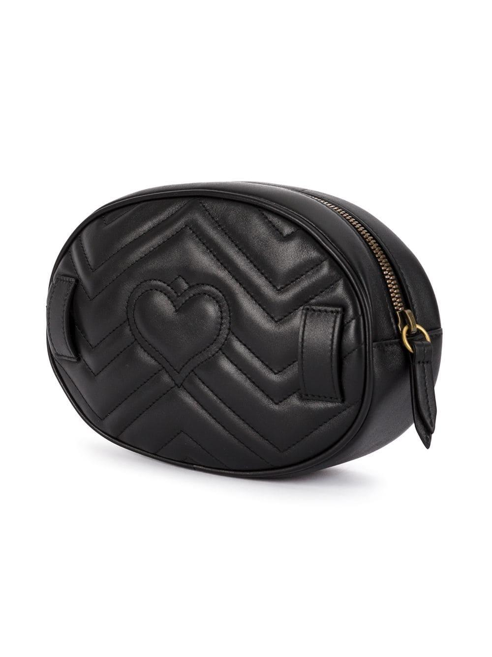 edea45d6c918 Gucci - Black GG Marmont Quilted Belt Bag - Lyst. View fullscreen