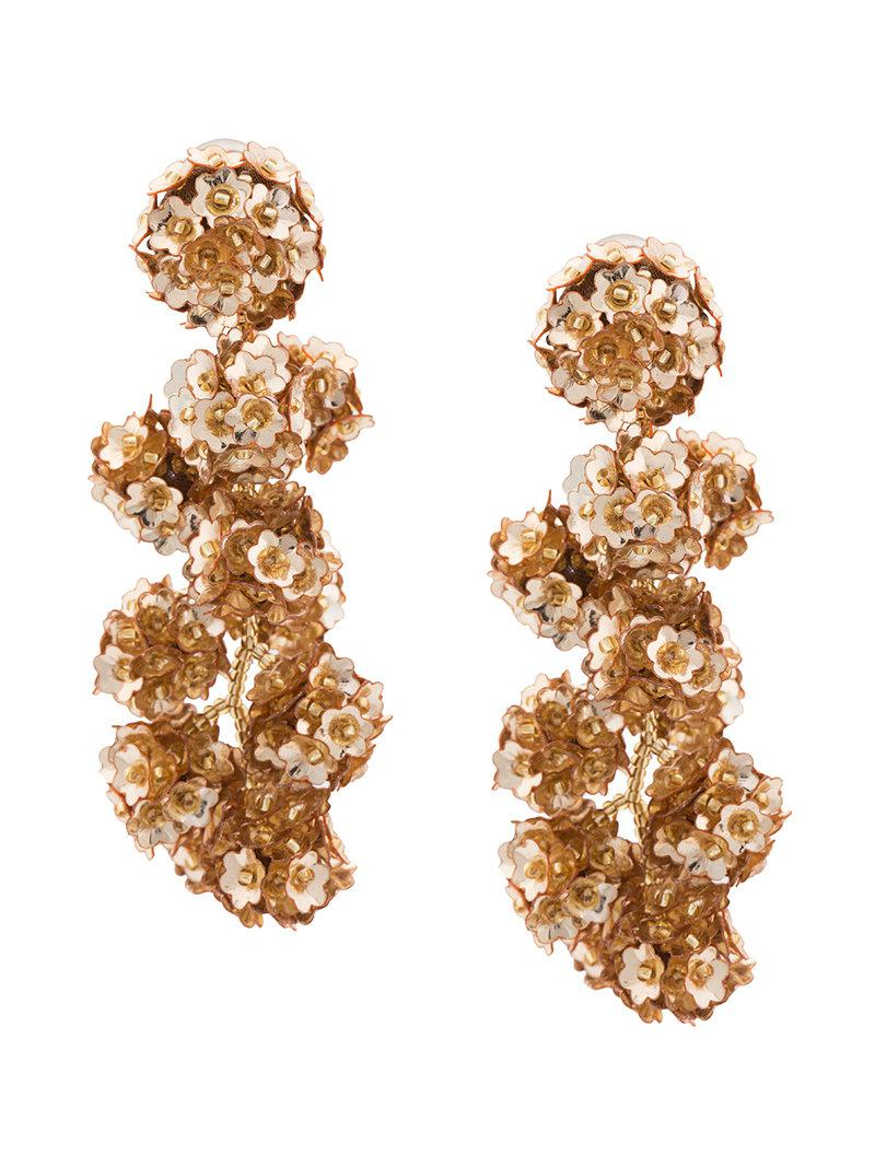Fleur Coconuts clip-on earrings - Red Sachin & Babi FcoPHxfF44