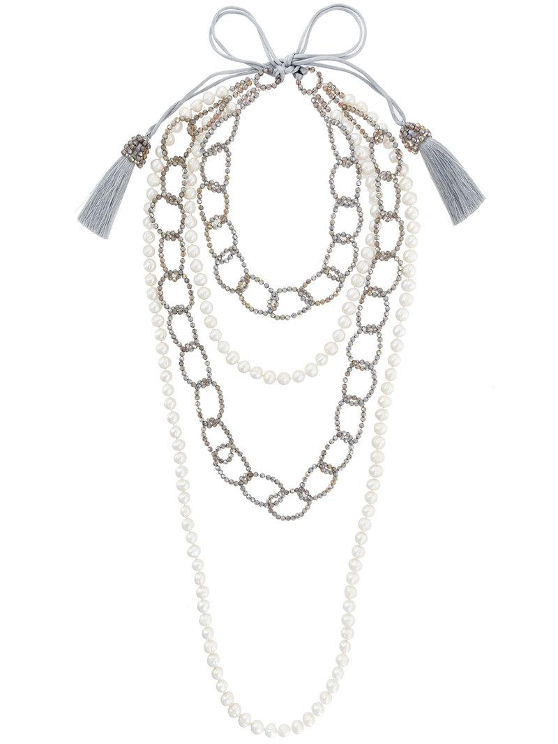 Night Market long pearl necklace - White OXo51IhC