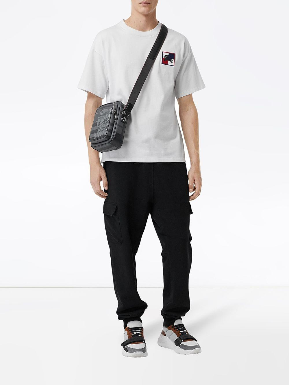 Burberry - Black Small Ekd London Check Crossbody Bag for Men - Lyst. View  fullscreen aa24c8321b742