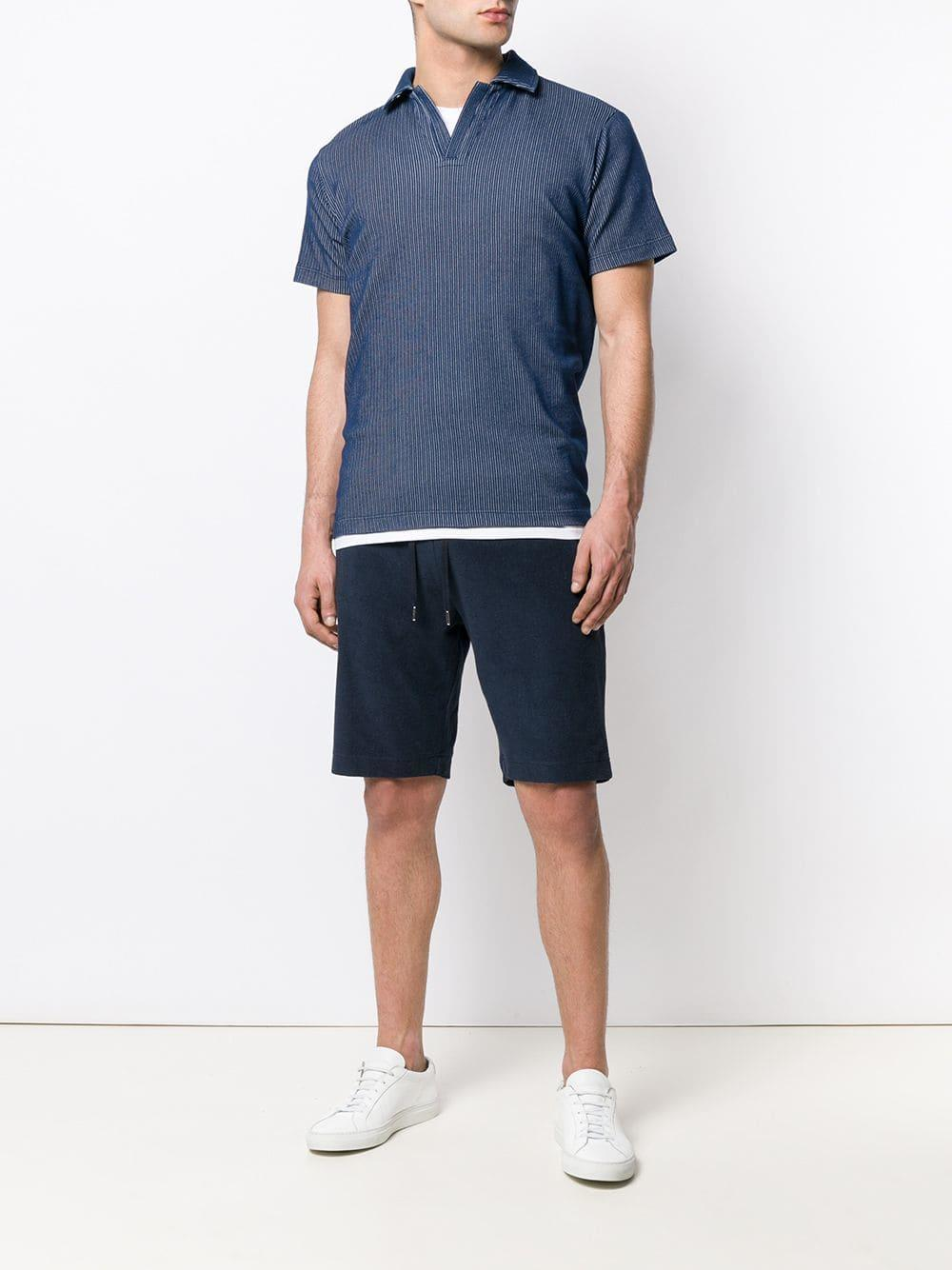 c100286881 Sunspel Drawstring Waist Shorts in Blue for Men - Lyst