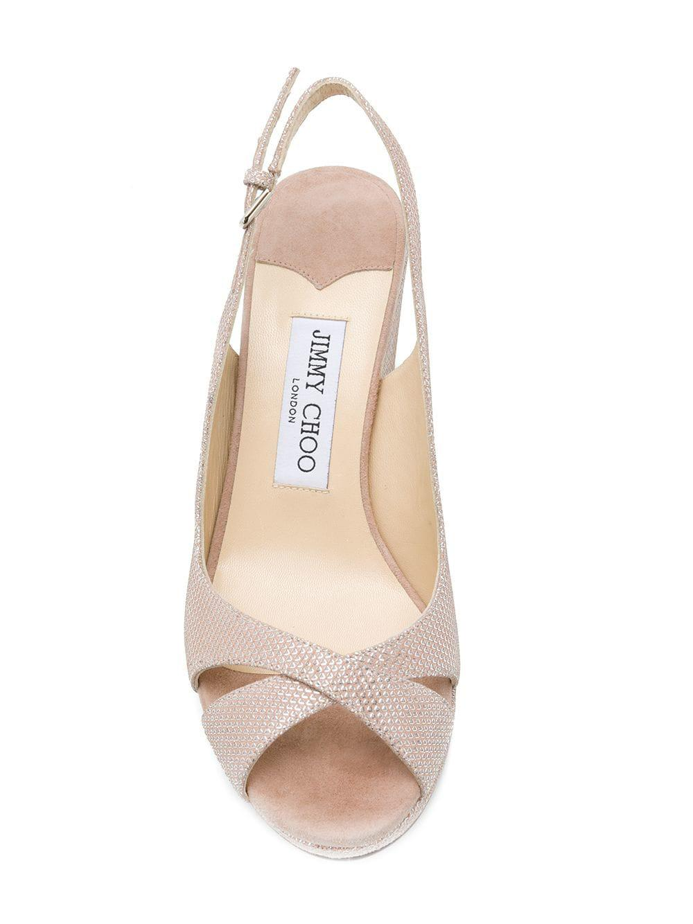 e240fc92cc0 Lyst - Jimmy Choo Amely 80 Sandals in Pink
