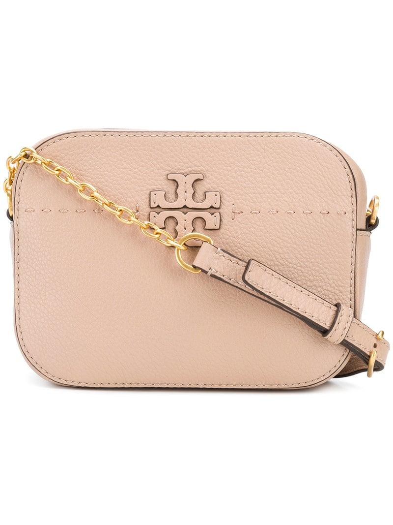 8d1b286ad Lyst - Tory Burch Mcgraw Camera Bag in Pink