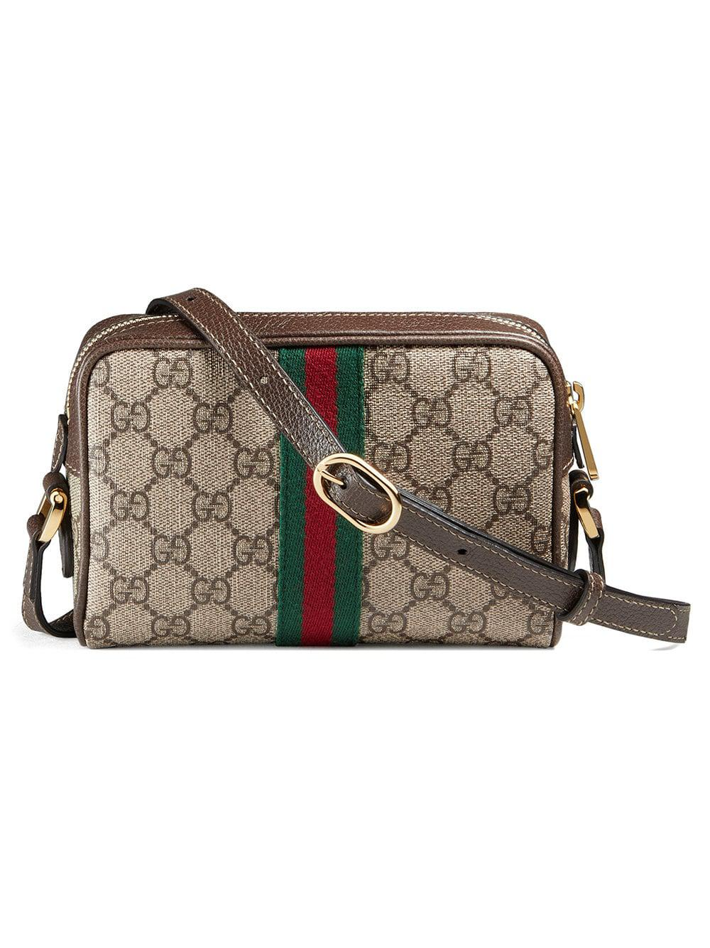 a1a19c20120a Gucci Brown Ophidia GG Supreme Small Belt Bag in Brown - Save 12% - Lyst