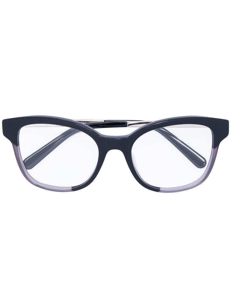 a38ccf578c Ferragamo Cat Eye-frame Optical Glasses in Black - Lyst
