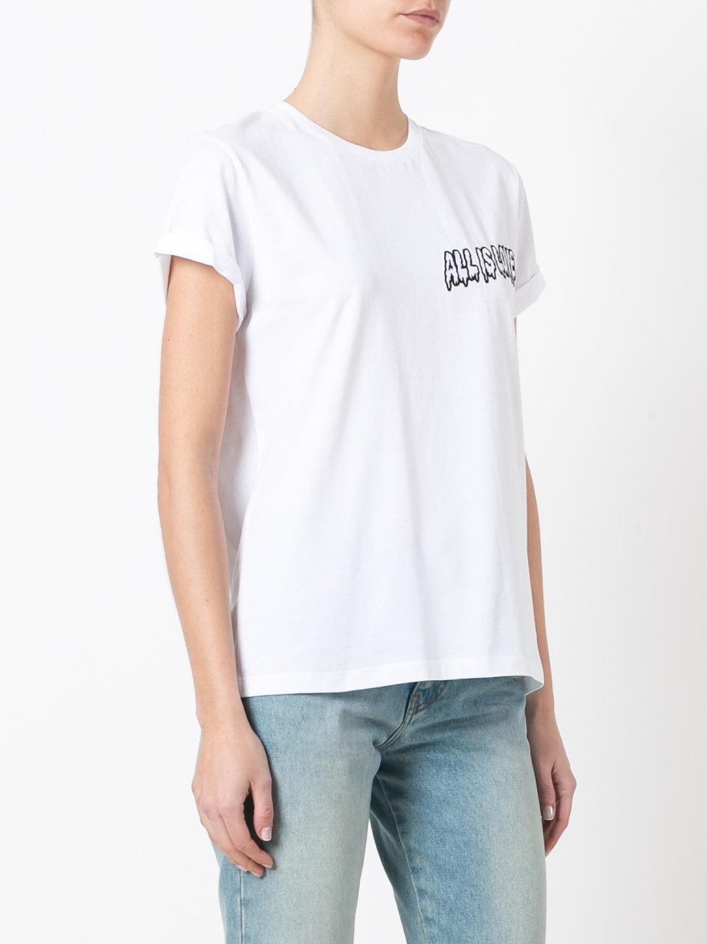 Stella mccartney all is love t shirt in white lyst for Stella mccartney t shirt