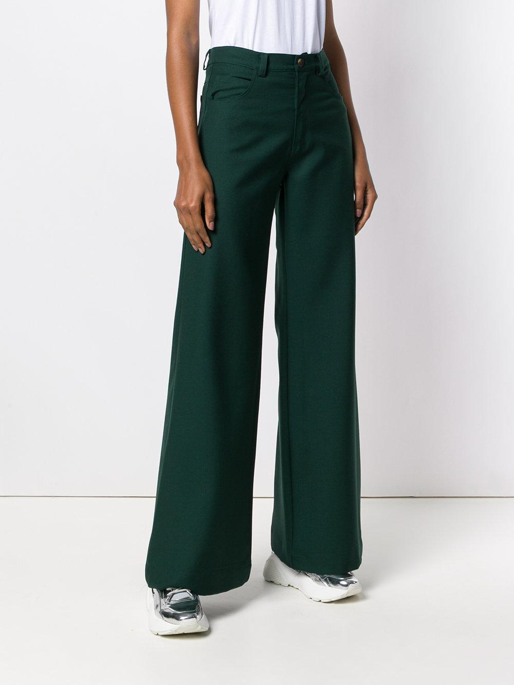 Classic Wide-leg Trousers - Green Société Anonyme nkvPpRfvK9