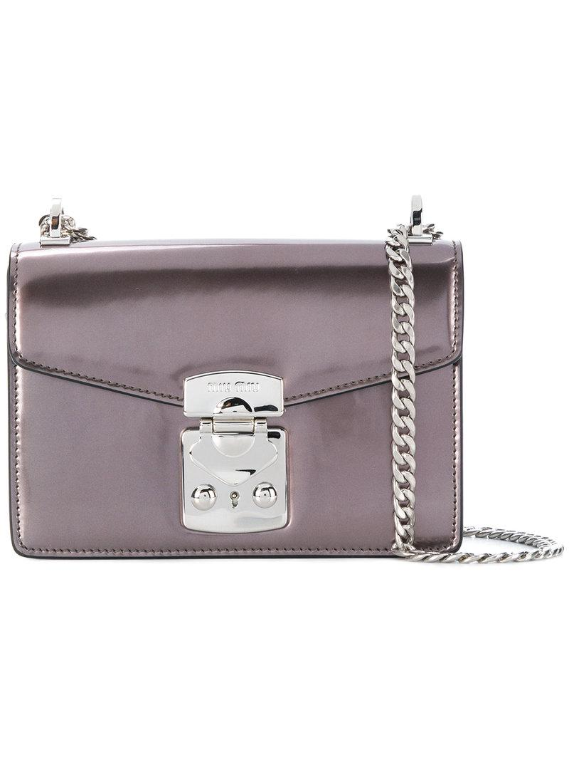 Shoulder Metallic Lyst Bag Miu In xH77z