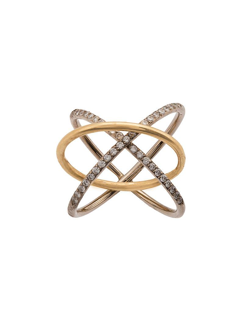 Charlotte Chesnais 18kt yellow gold System diamond ring - Metallic CwKlNwySy5