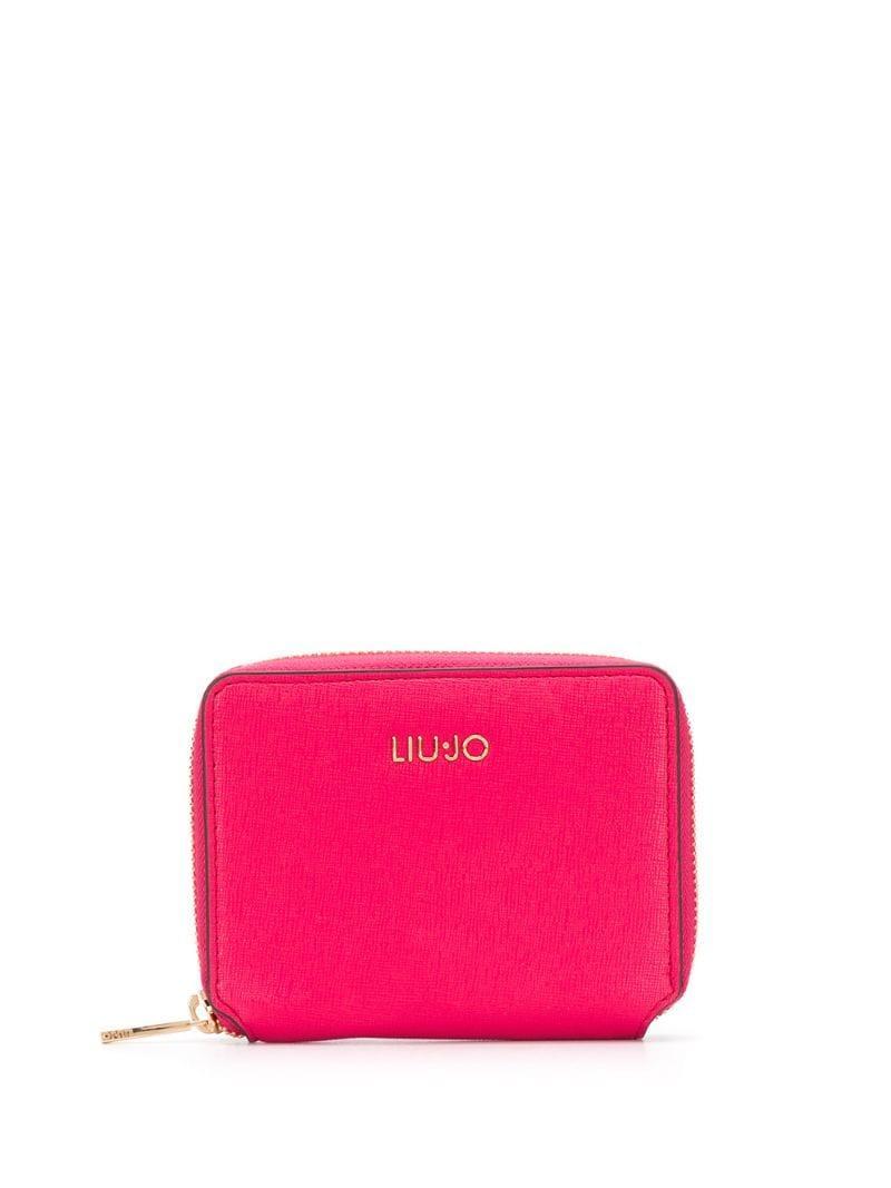 d7159907 Tarjetero con cremallera Liu Jo de color Rosa - Lyst