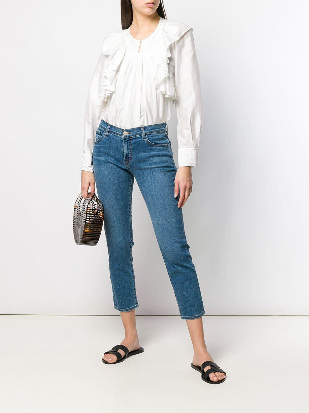 c4725cde1416 Lyst - J Brand Slim-fit Cropped Jeans in Blue