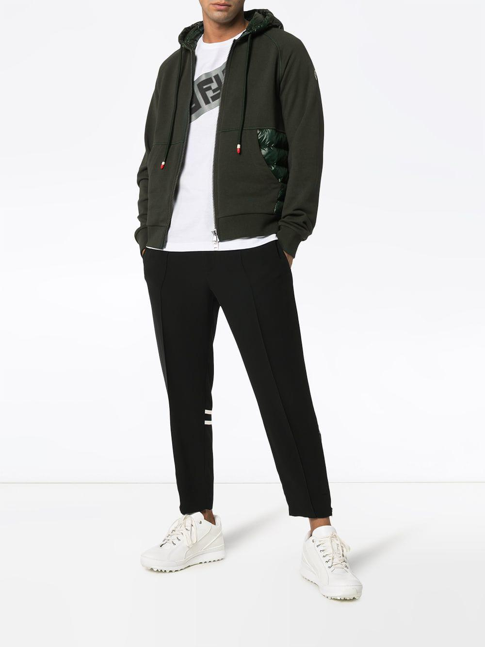 c0fad065bc58 Moncler Padded Panel Hoodie in Green for Men - Save 1% - Lyst