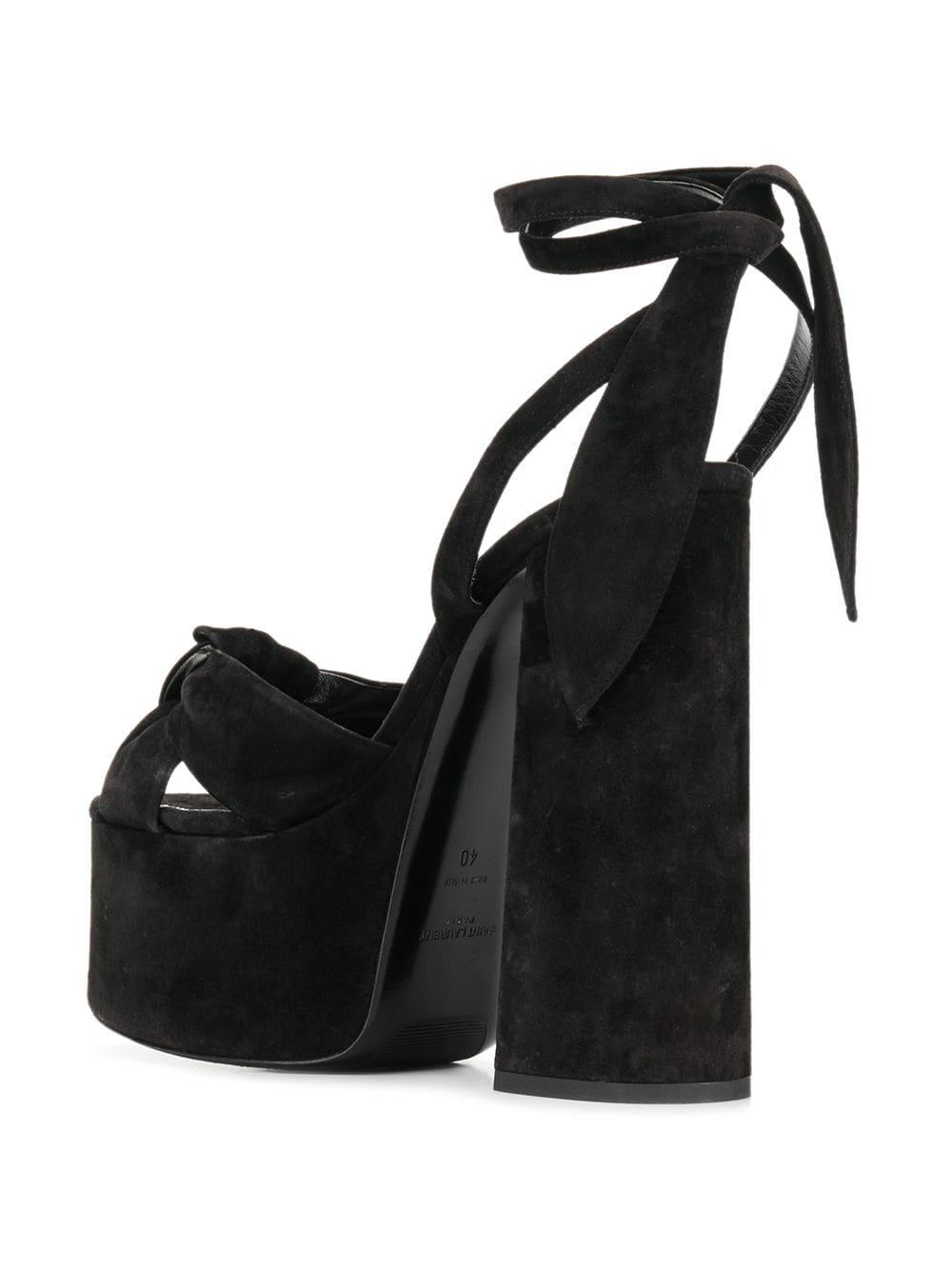 c343e87c10f2 Saint Laurent - Black Paige High Platform Sandals - Lyst. View fullscreen