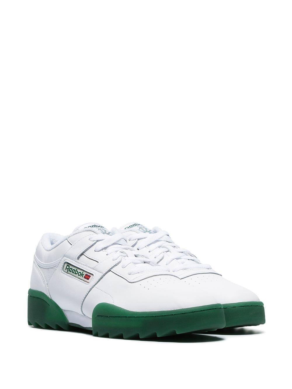 69a1057e067 Reebok - Green Workout Ripple Sneakers for Men - Lyst. View fullscreen