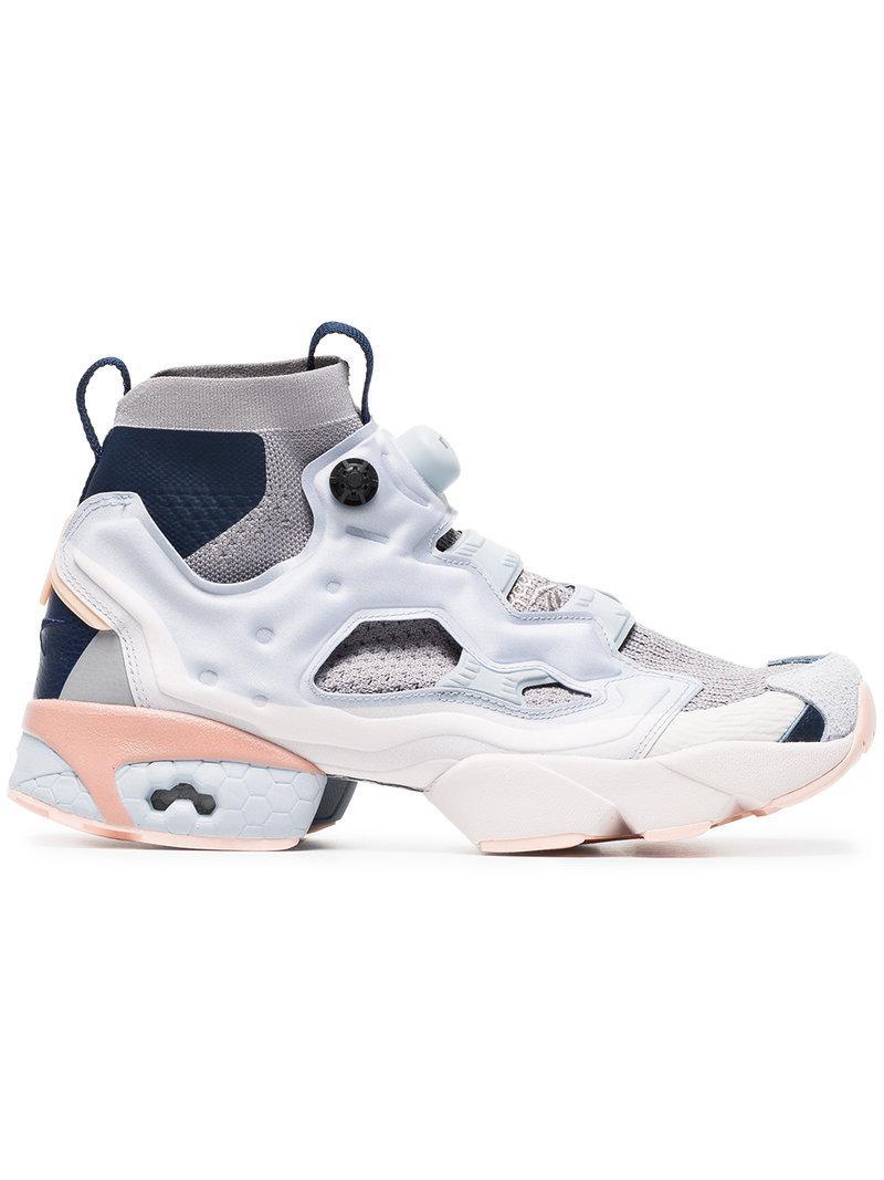 3715432561c Lyst - Reebok Instapump Fury Ultraknit Sneakers in Blue for Men ...