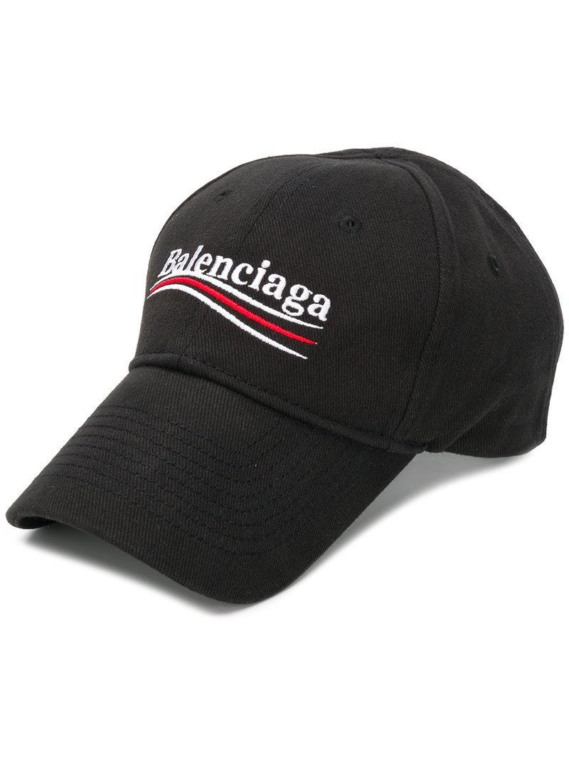 f0382968e75 Balenciaga New Political Logo Baseball Cap in Black for Men - Save ...
