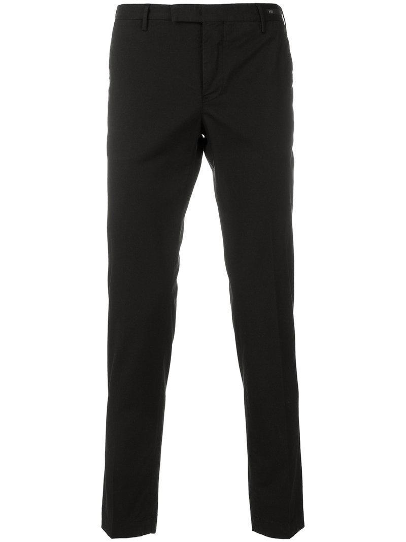 straight-leg trousers - Black PT01 IxAUjBr5