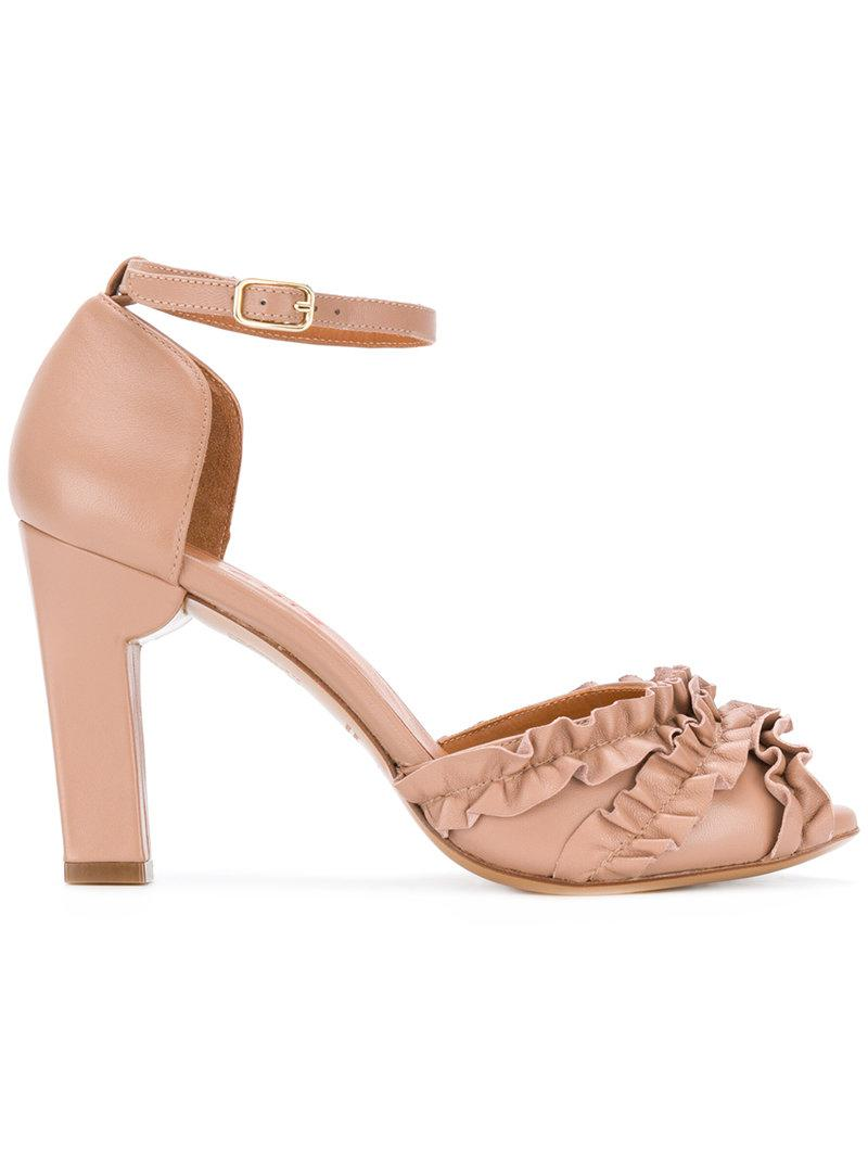 Manchester 2014 newest cheap price Chie Mihara ruffle panel heeled sandals free shipping eastbay from china low shipping fee looking for cheap online Bg3lmU
