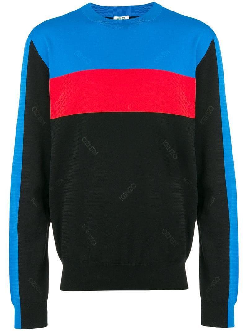 0534952c KENZO - Black Logo Panel Sweatshirt for Men - Lyst. View fullscreen