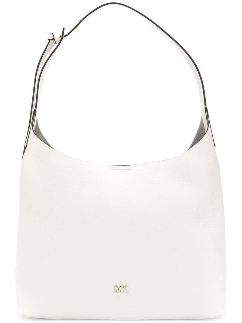 efcd184e6cc5 Lyst - Michael Michael Kors Logo Tote Bag in White