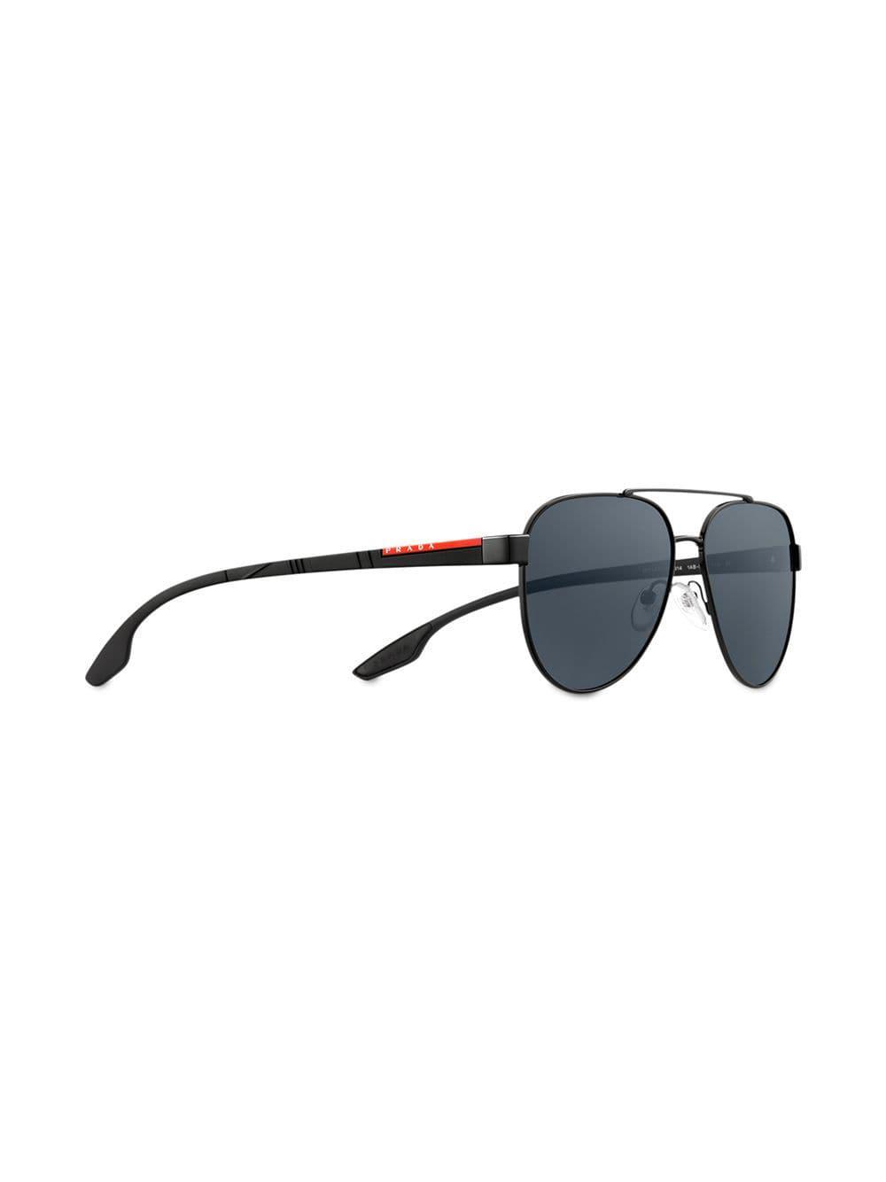 a4973fac364f Prada Prada Linea Rossa Stubb Eyewear in Black for Men - Lyst