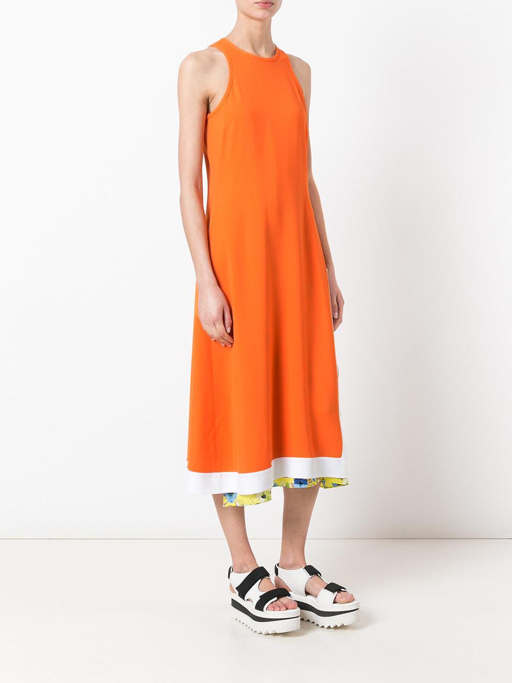 flared sleeveless dress - Yellow & Orange Msgm Jx5g6ieo9Y