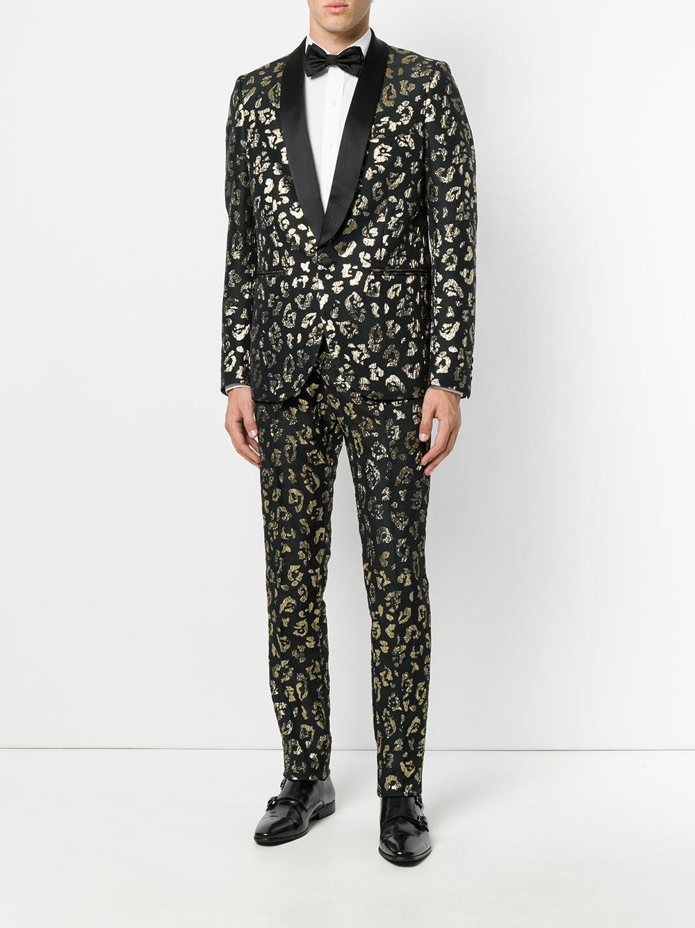 Christian pellizzari Animal Pattern Suit Blazer in Black ...