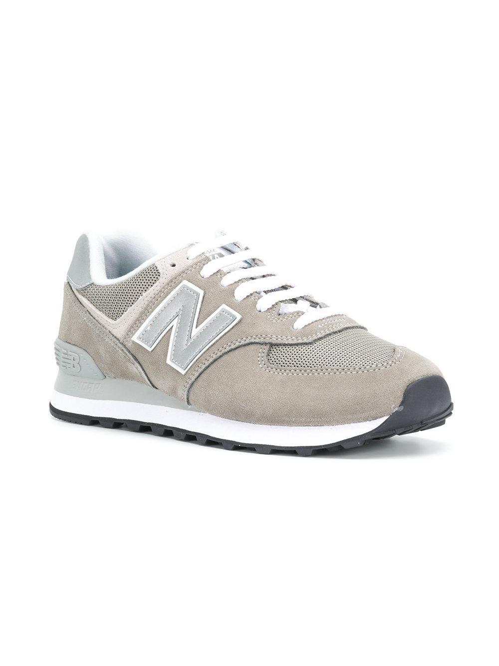 New Balance - Gray 574 Sneakers for Men - Lyst. View fullscreen 3bbaea9b2