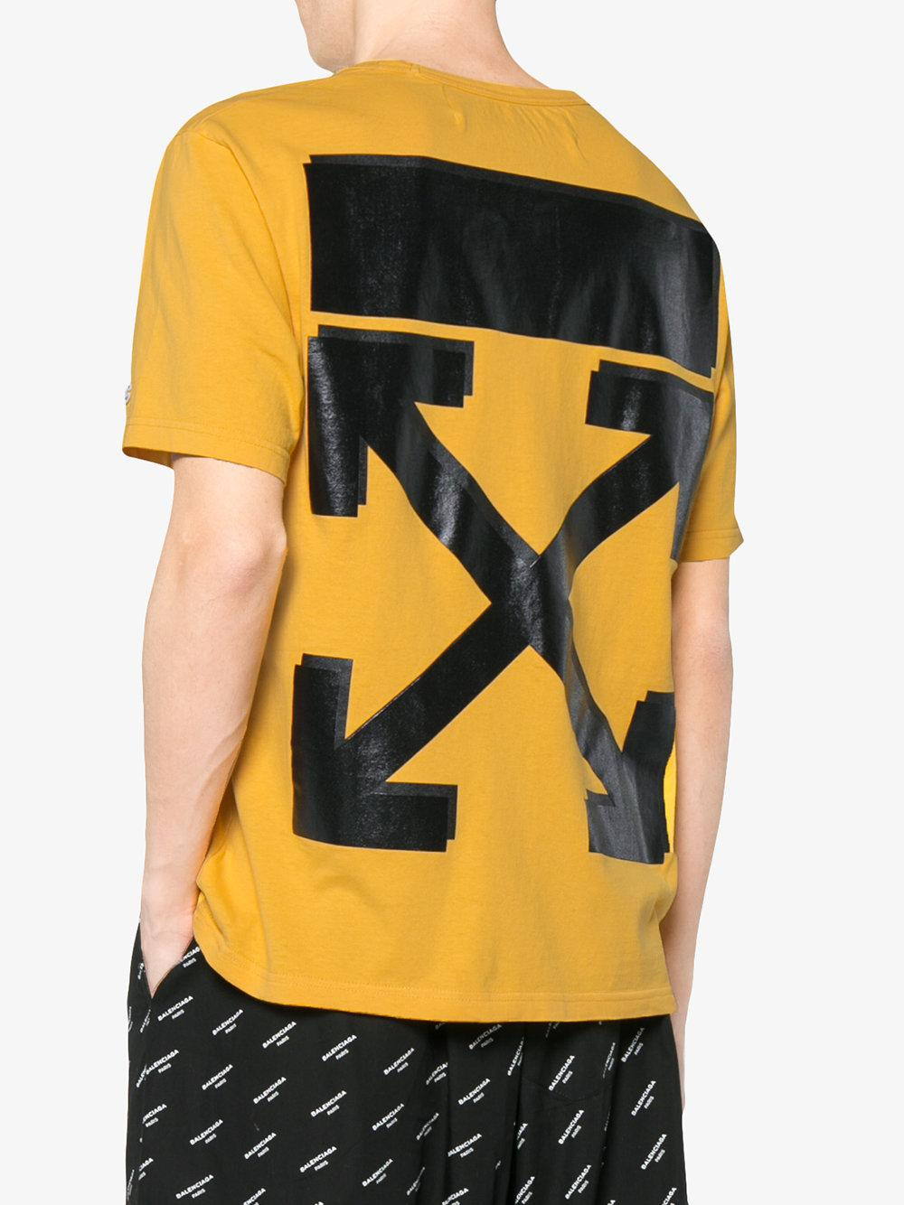 c015a344 Off-White C/O Virgil Abloh X Champion Yellow T-shirt in Yellow for ...