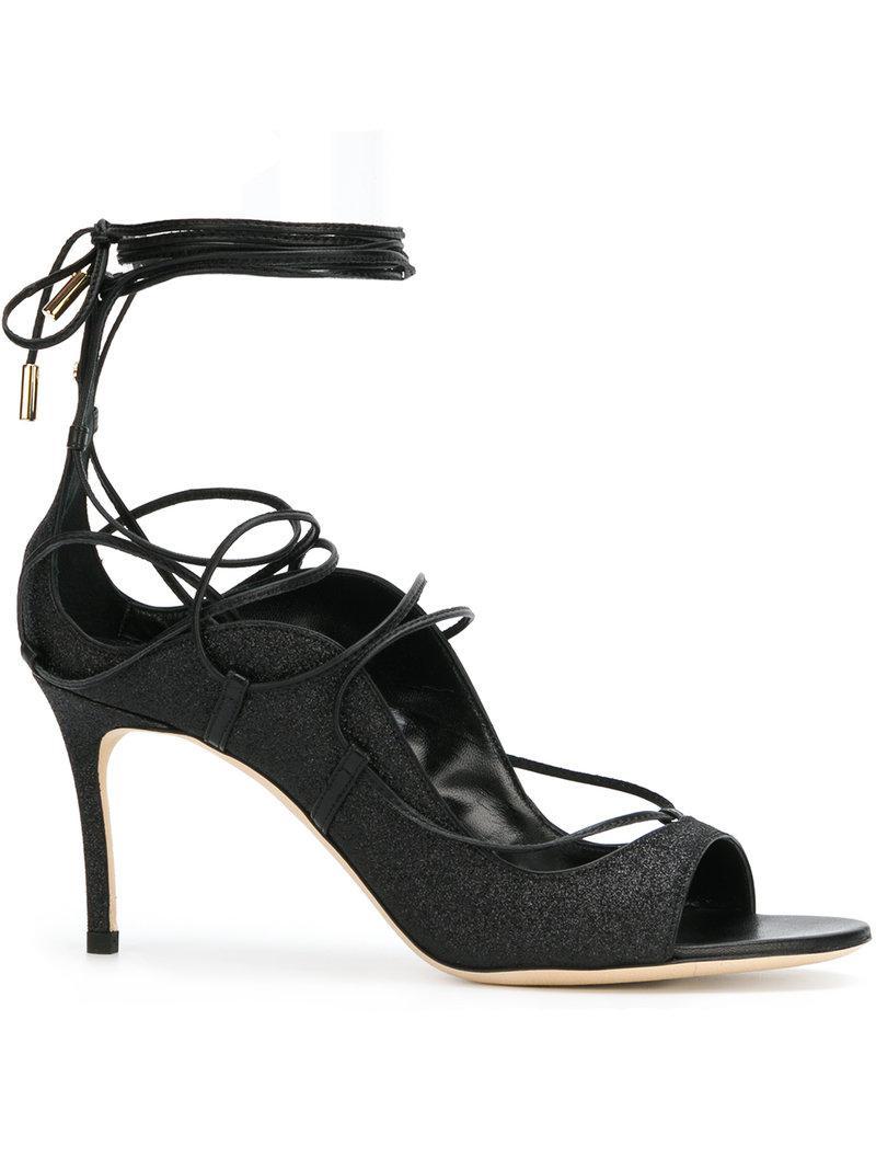 2da46ca1ad64 Lyst - DSquared² Glitter Riri Sandals in Black