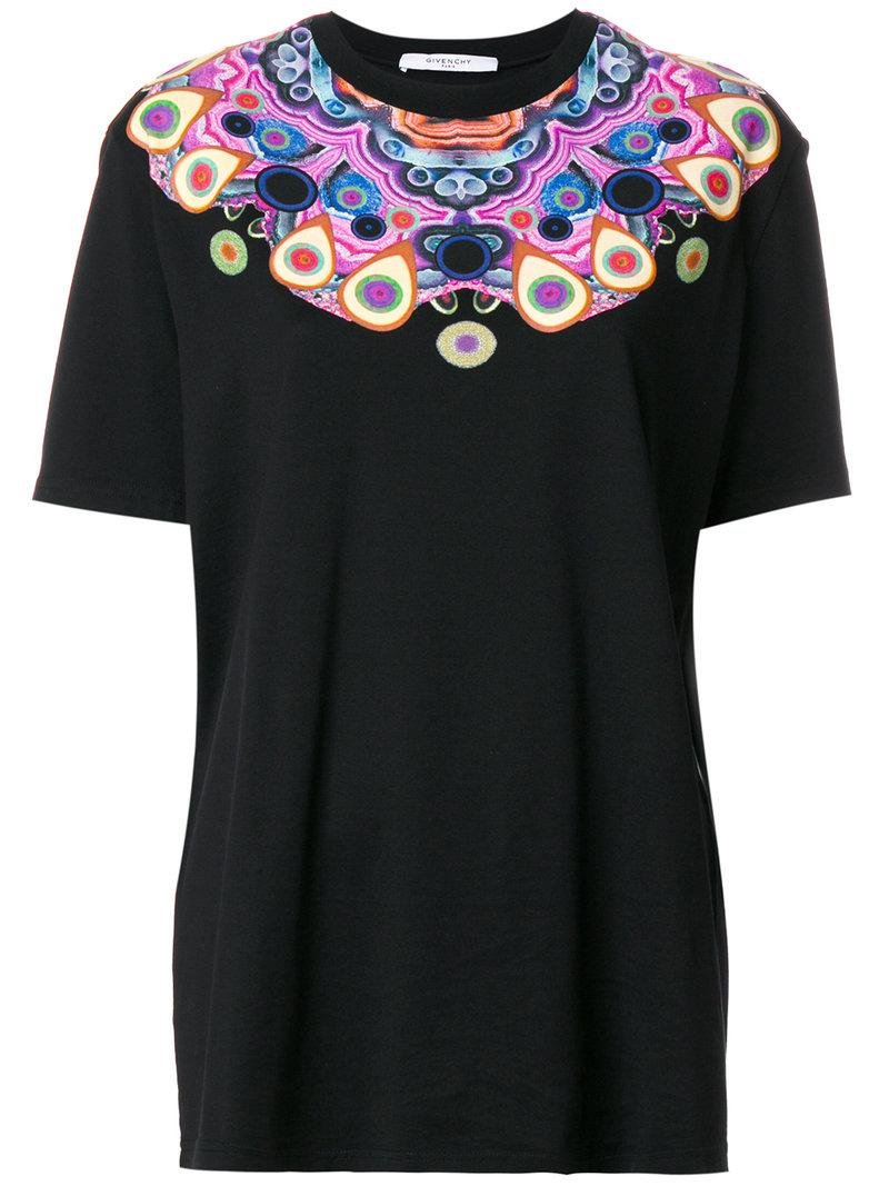 Lyst givenchy t shirt con stampa caleidoscopica in black for Givenchy t shirts for sale