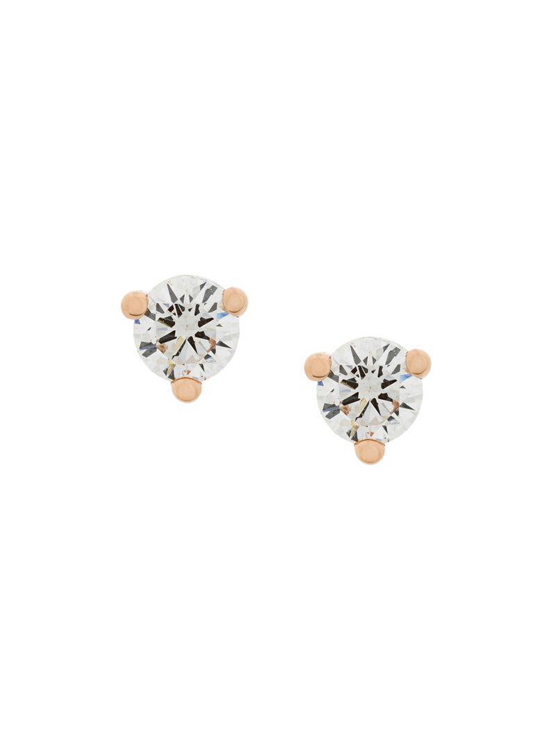 Delfina Delettrez 18kt gold Dots Solitaire peridot earring - Metallic n1dSt3IEvc