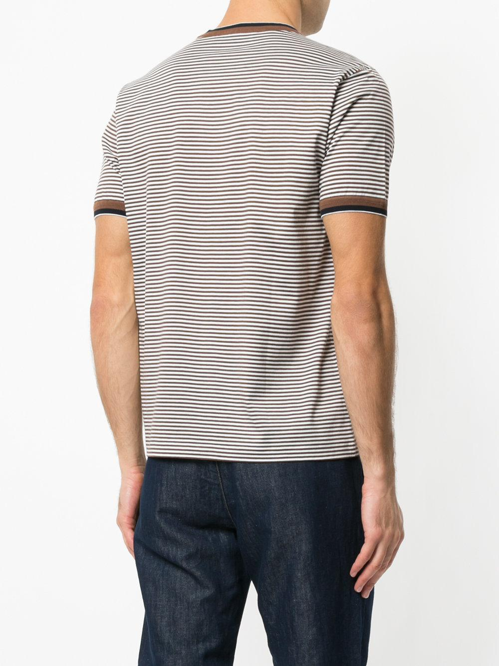 rayas Marrón a contraste Cerruti en Camiseta zxHFq5Sw
