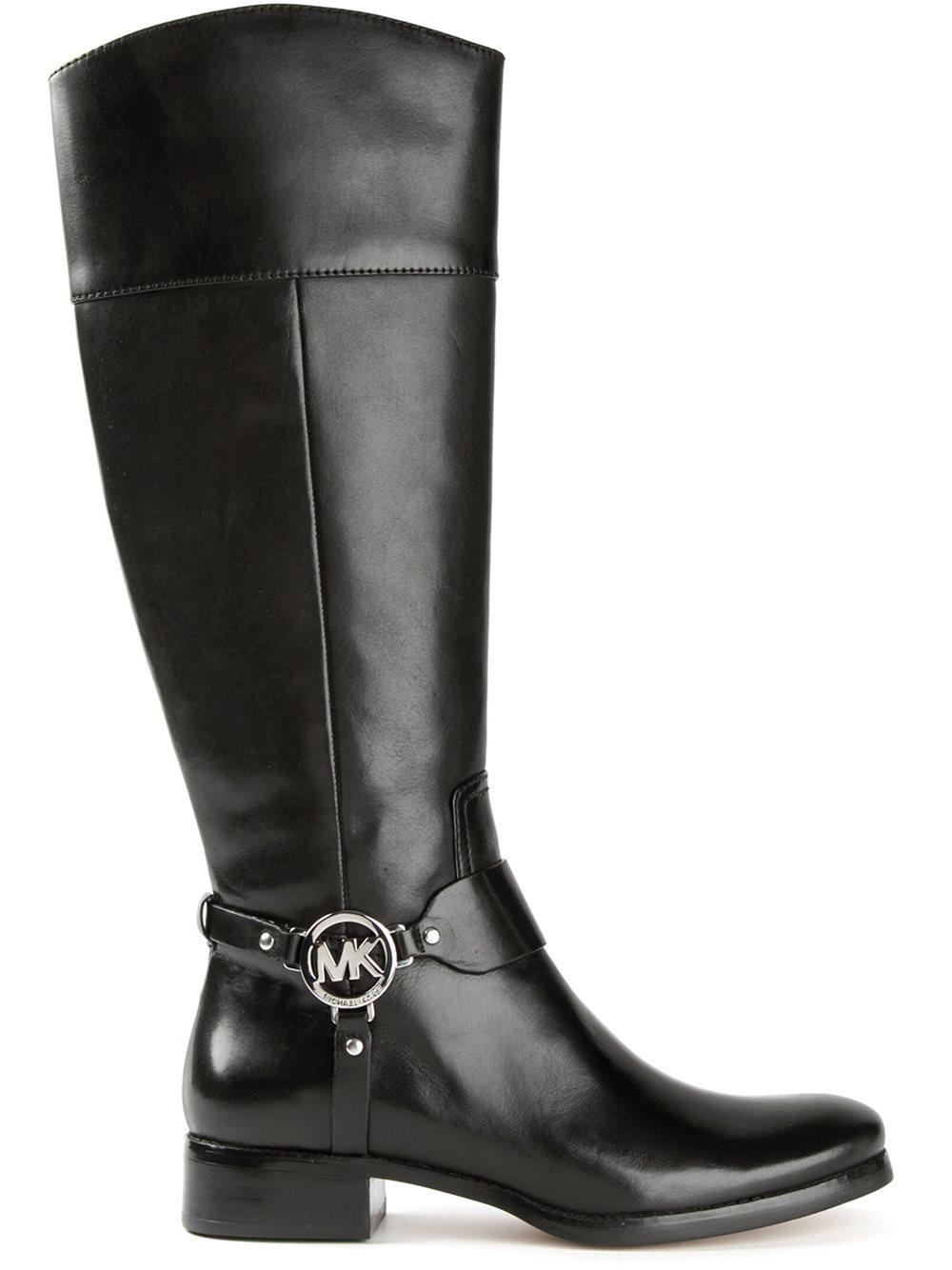 Michael Michael Kors Mid Calf Boots In Black Lyst