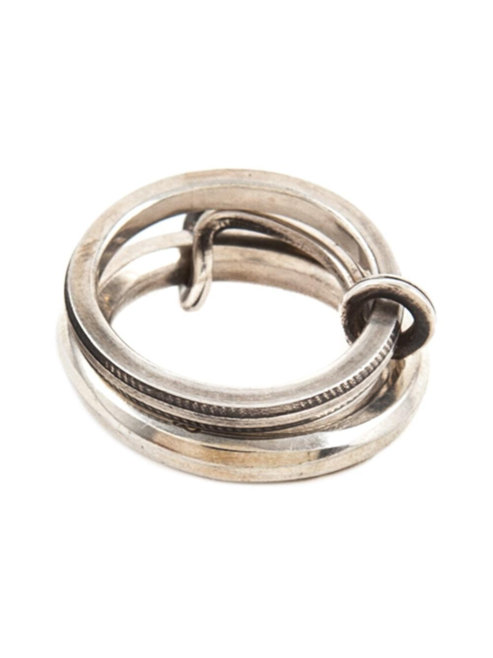 werkstatt m nchen werkstatt m nchen connected ring in metallic for men lyst. Black Bedroom Furniture Sets. Home Design Ideas