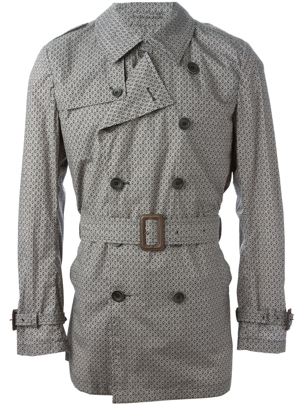 more photos ce4d7 87711 Lyst - Herno Printed Trench Coat in Gray for Men