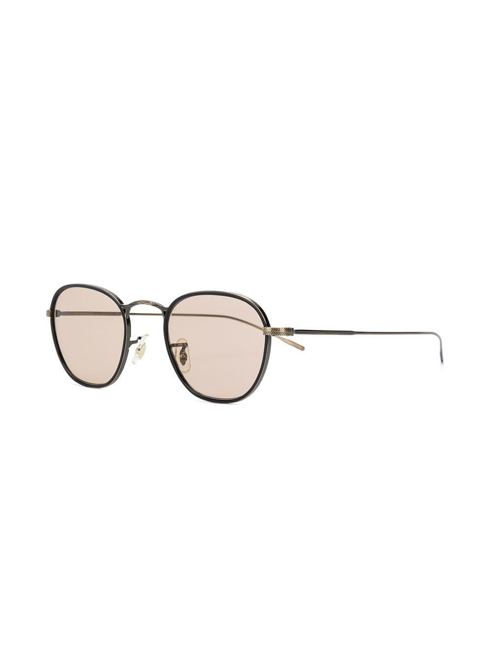c2b5d7505ec Lyst - Oliver Peoples Eoin Embossed Frame Glasses in Metallic