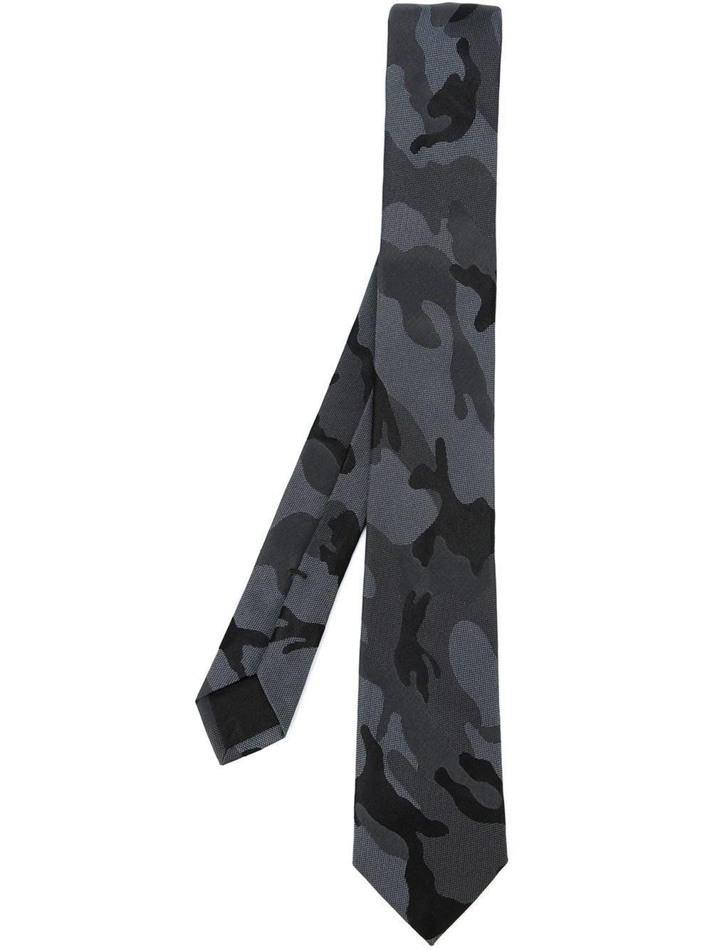 136bb74cf492 Valentino Garavani Camouflage Tie in Gray for Men - Lyst