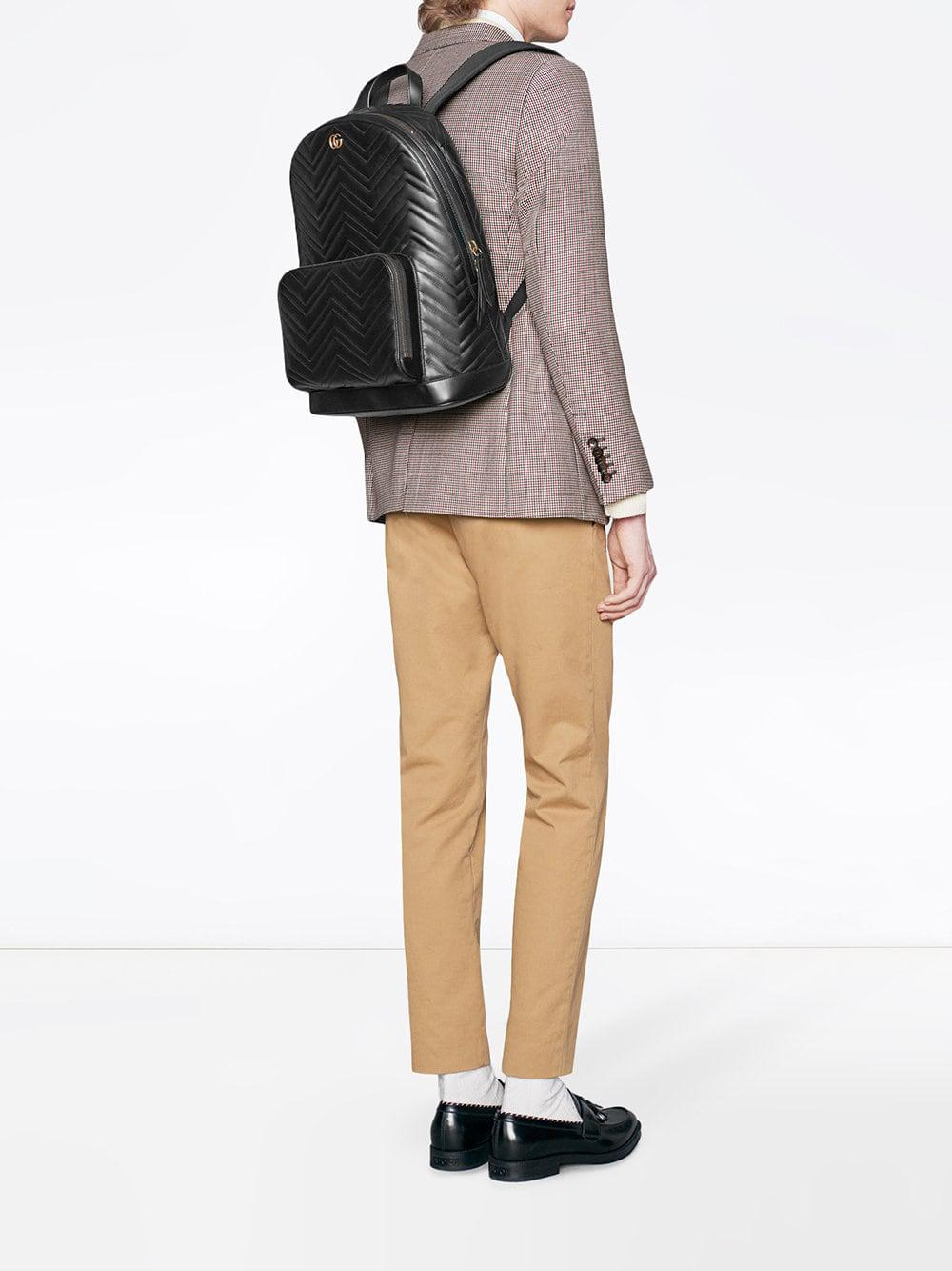 Lyst - Gucci GG Marmont Matelassé Backpack in Black for Men - Save 22% f70a4b490e3e2