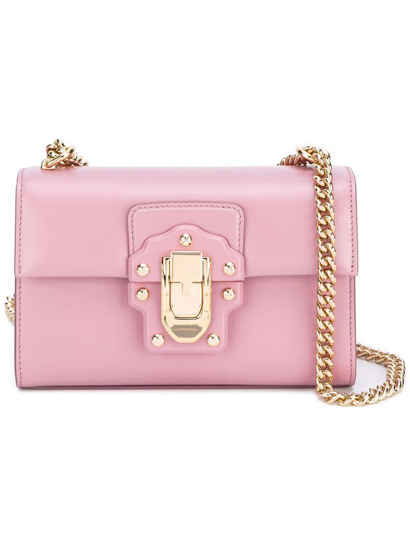 e421903ba70b Lyst - Dolce   Gabbana Lucia Crossbody Bag in Pink